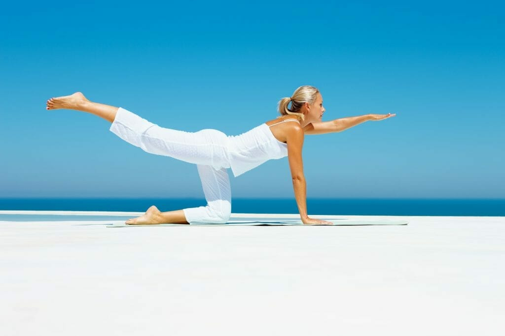 Yoga exercises after knee surgery