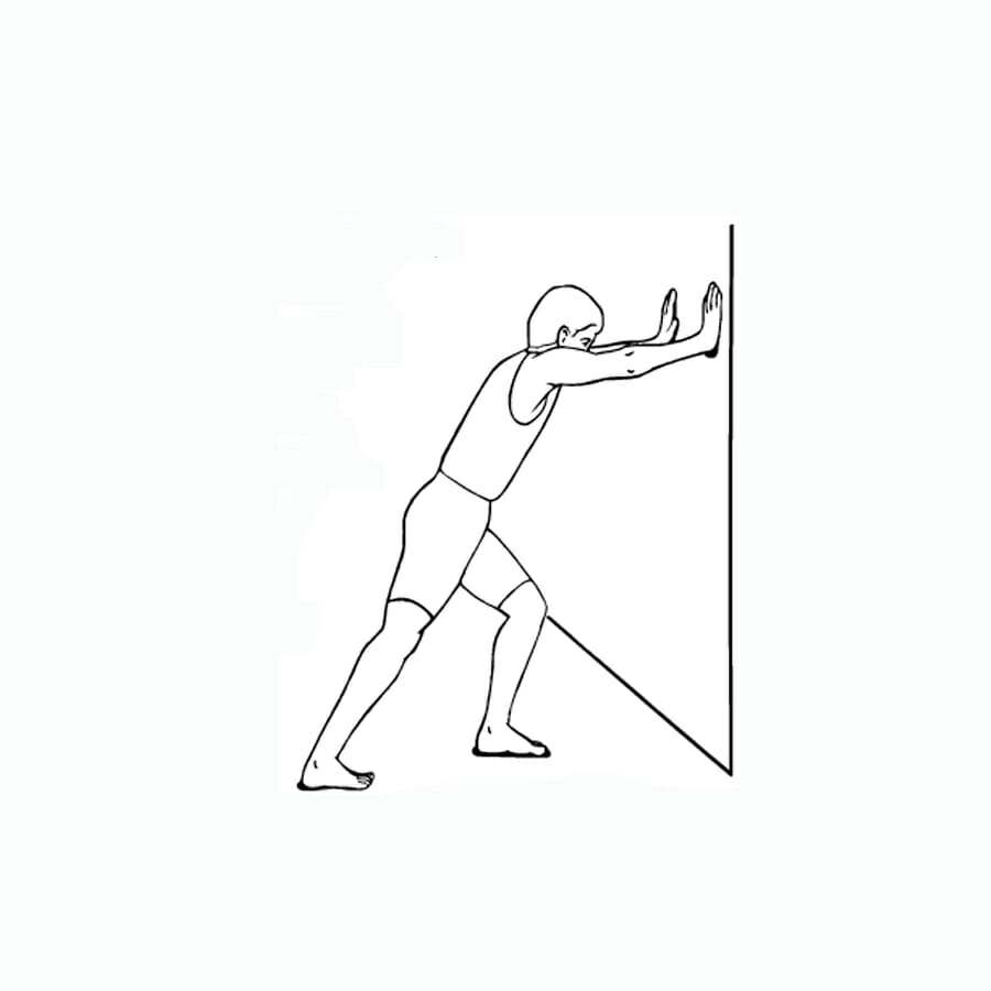 Calf Stretch Wall Stretches and Strength for Pickleball and Tennis