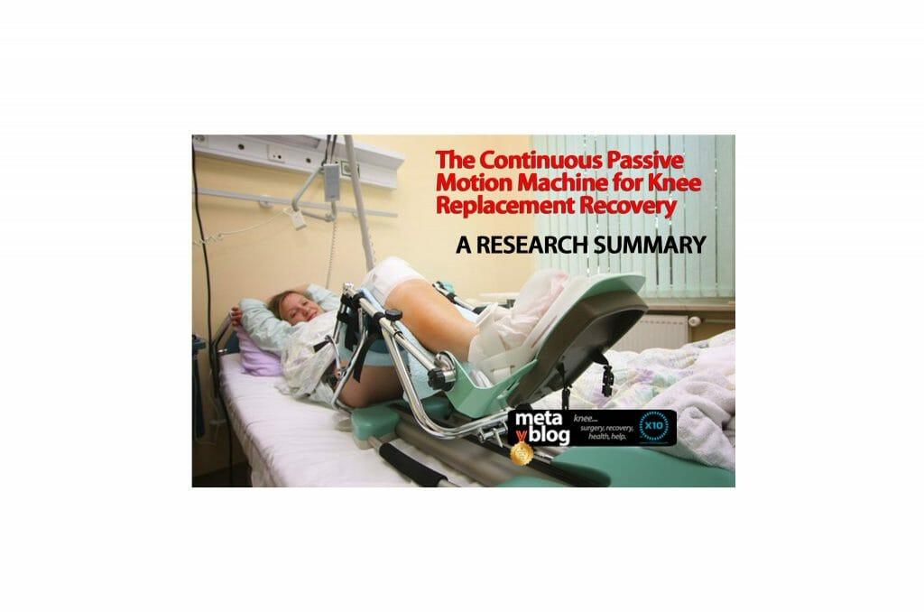 Continuous Passive Motion Research